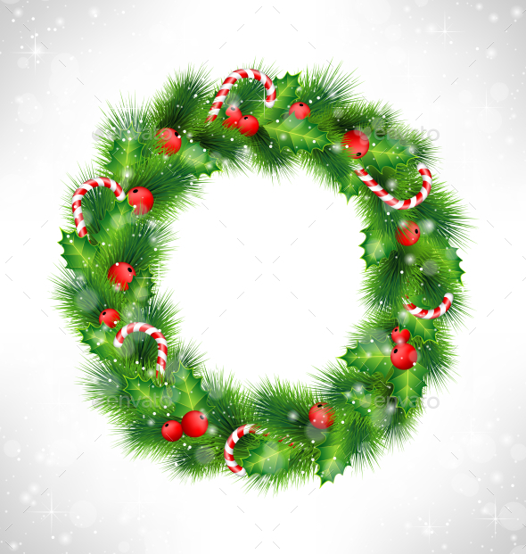 Christmas Wreath - Backgrounds Decorative