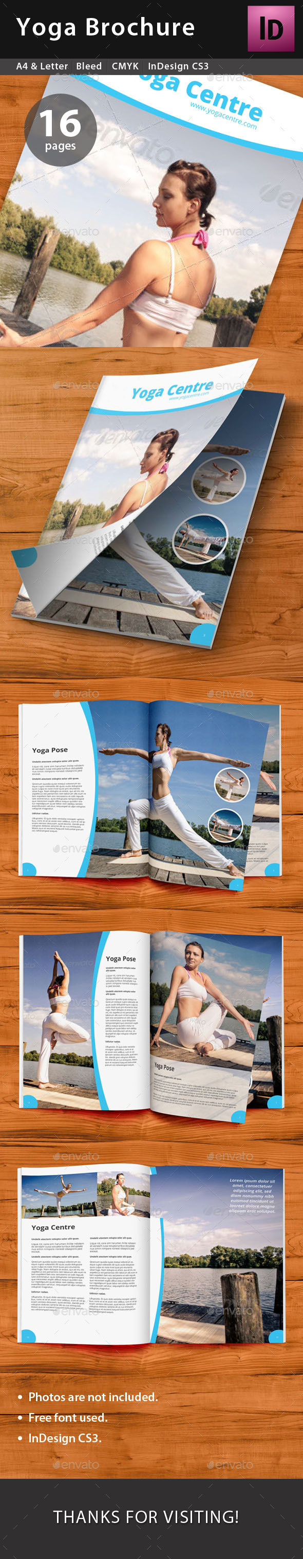Yoga Brochure - Brochures Print Templates