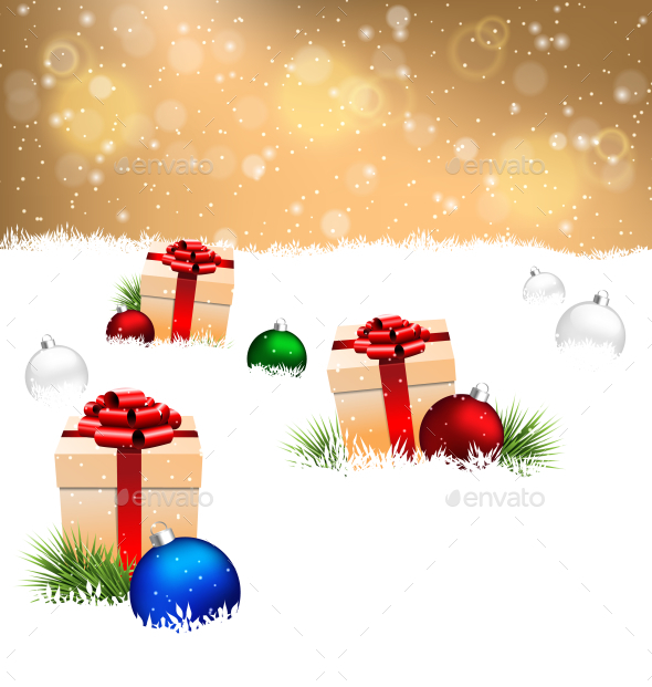 Gift Boxes Christmas Background - Backgrounds Decorative