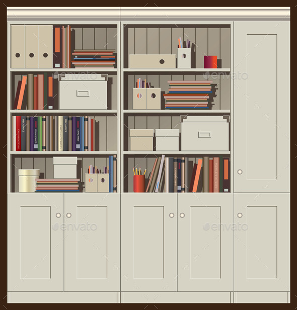 Bookcase - Objects Vectors