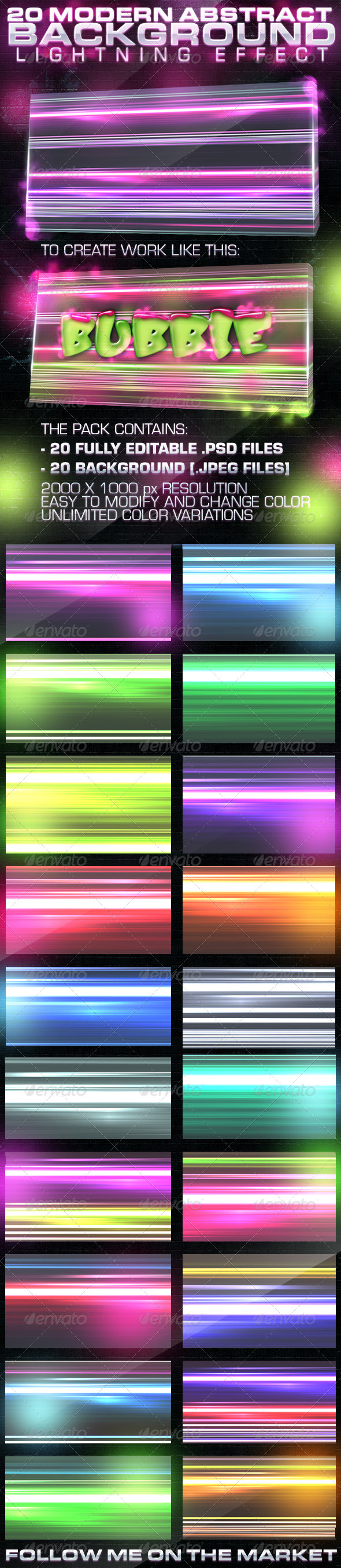 20 Abstract Background Lightning Effect - Abstract Backgrounds