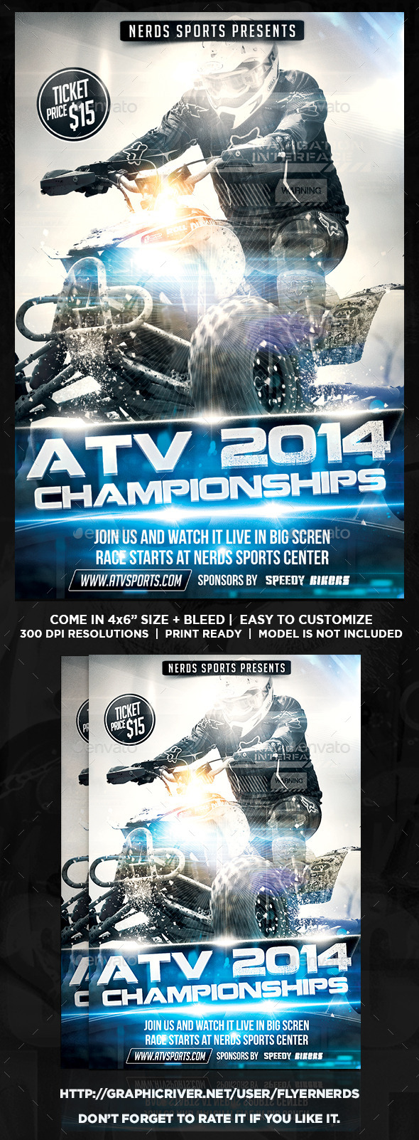 ATV 2014 Championships Sport Flyer - Sports Events
