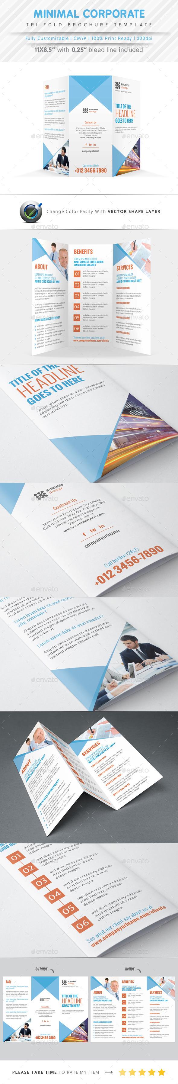 Minimal Tri Fold Brochure - Corporate Brochures