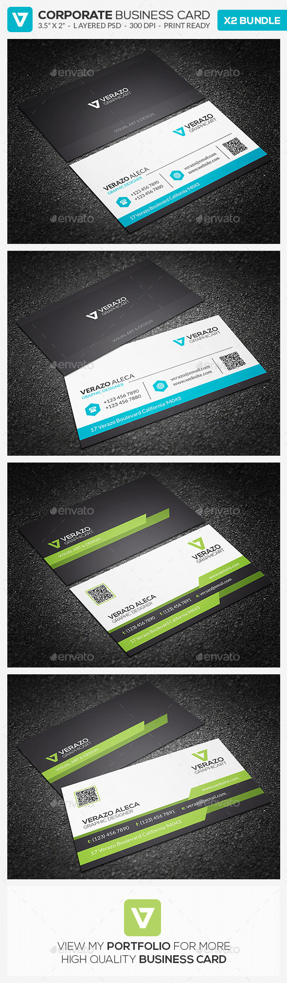 Business Card Bundle 11 - Corporate Business Cards