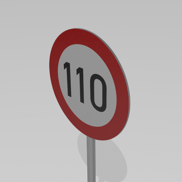 110 Speed limit sign - 3DOcean Item for Sale