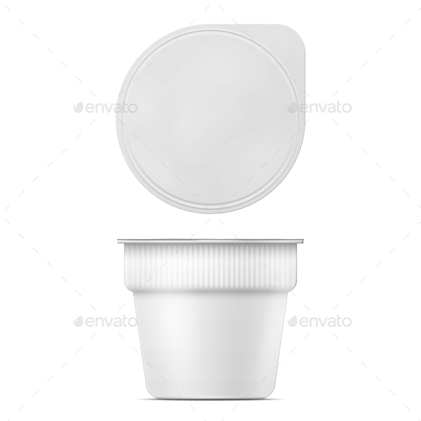 Instant Mashed Potato Container Template - Food Objects