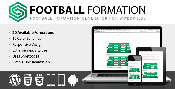 Football Formation - CodeCanyon Item for Sale