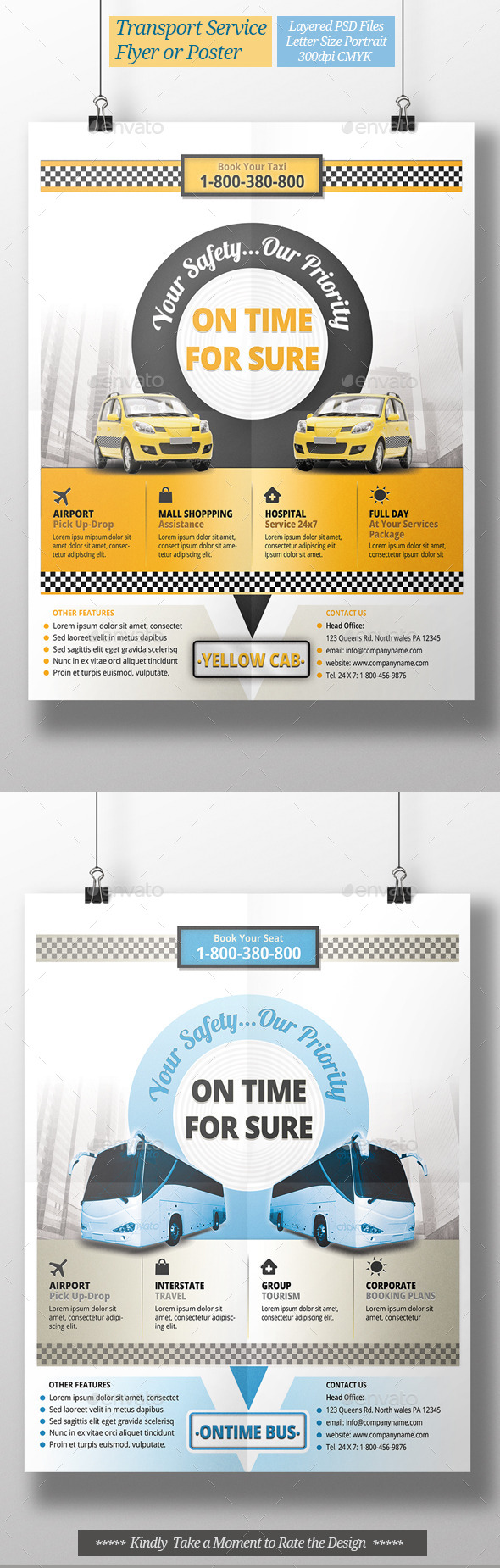 Taxi Transport Service Flyer or Poster - Commerce Flyers