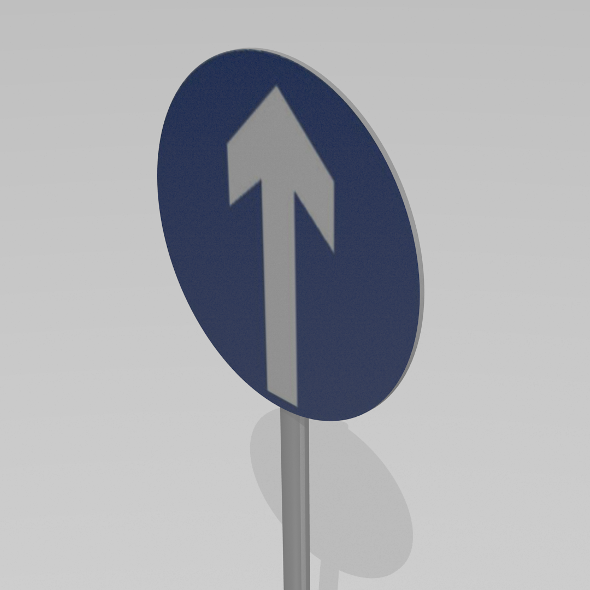 Go straight sign - 3DOcean Item for Sale