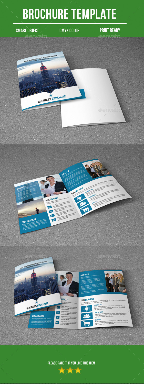 Business Bi-Fold Brochure - Corporate Brochures