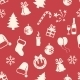 Seamless New Year and Christmas Pattern - GraphicRiver Item for Sale