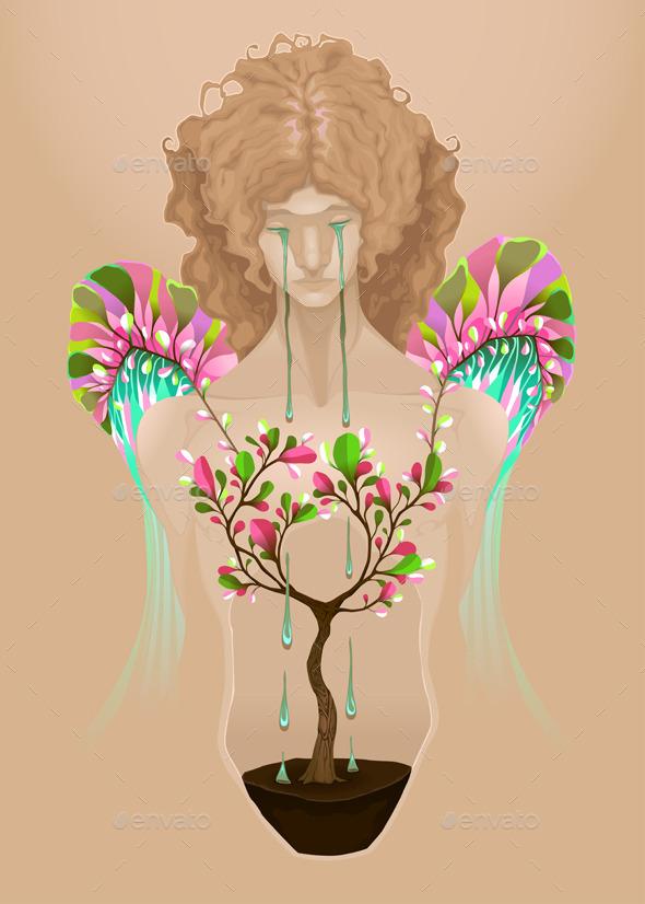 I am Beautiful - Conceptual Vectors