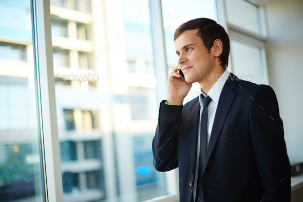 Man calling - Stock Photo - Images