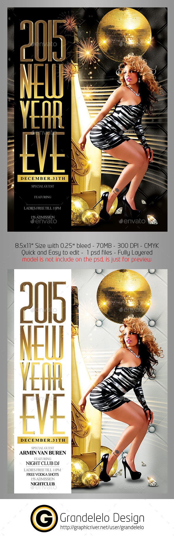 2015 New Year Eve Flyer Template - Clubs & Parties Events