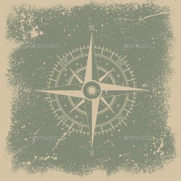 Grunge Wind Rose - Backgrounds Decorative