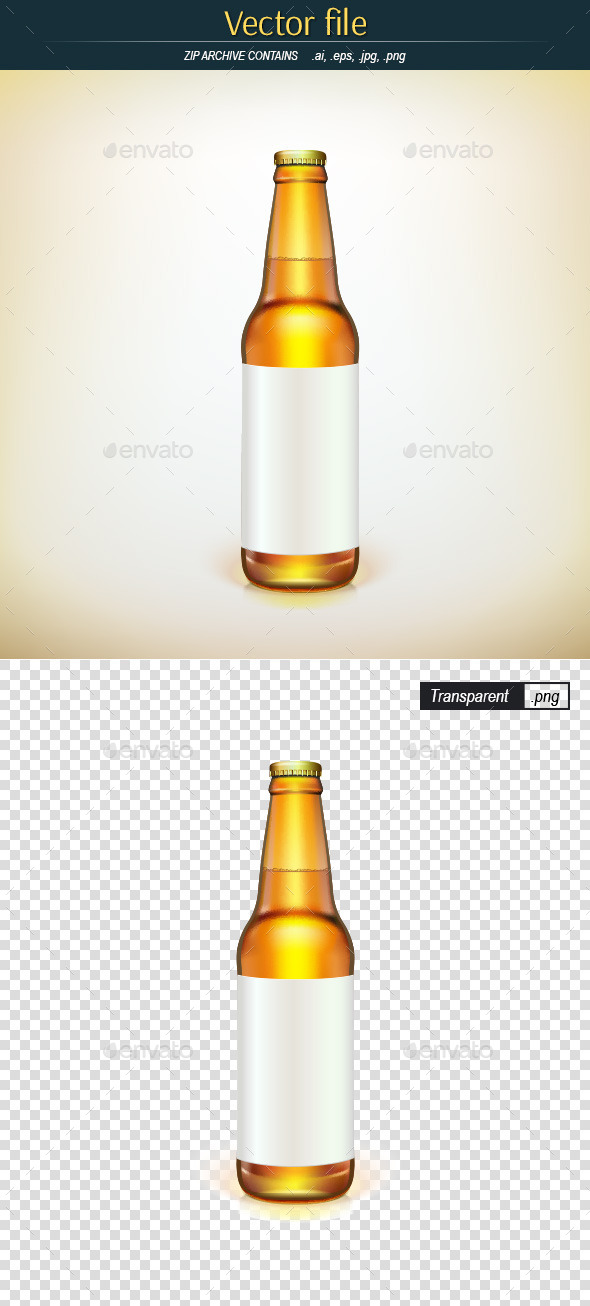 Bottle with Label - Man-made Objects Objects
