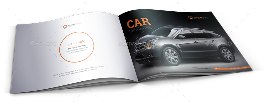 Automotive Car Brochure Catalog Indesign Template By Janysultana