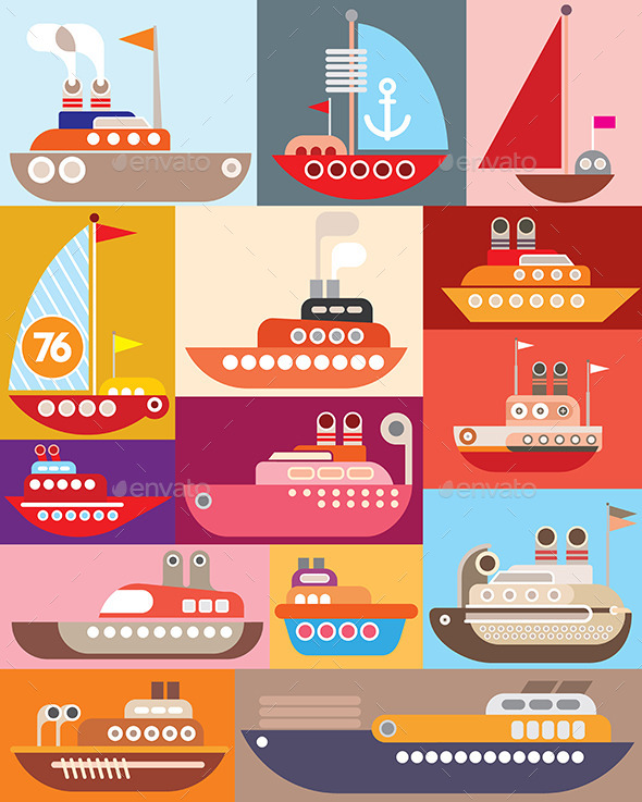 Ships and Boats - Travel Conceptual