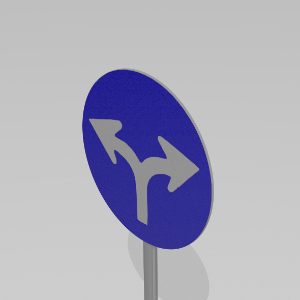 Turn left or right sign - 3DOcean Item for Sale