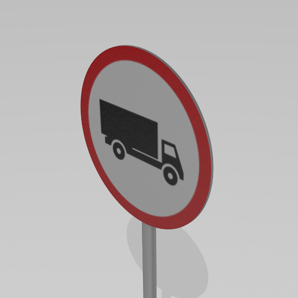 Heavy vehicles prohibited sign - 3DOcean Item for Sale