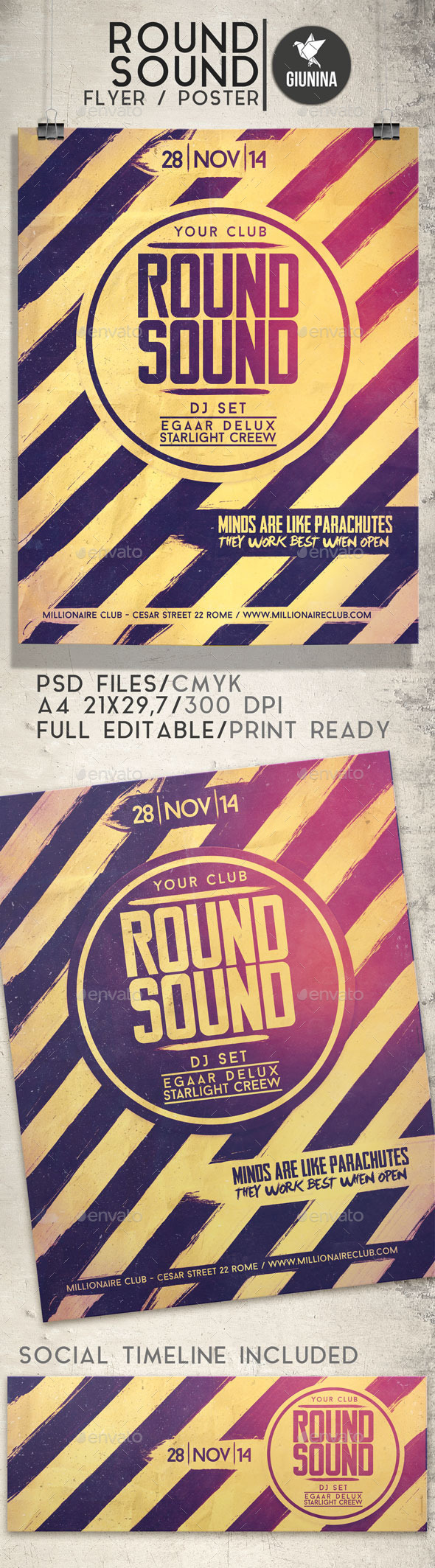 Round Sound Flyer/Poster - Events Flyers