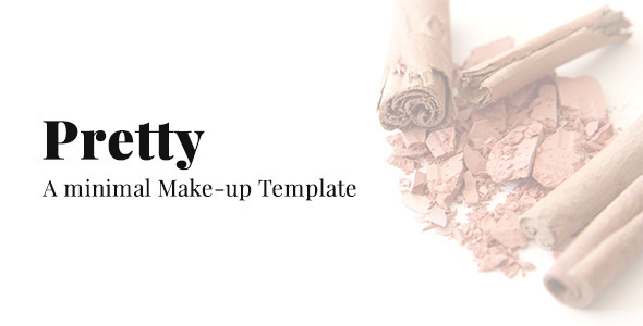 Pretty - A Minimal Make-up Website Template - Health & Beauty Retail