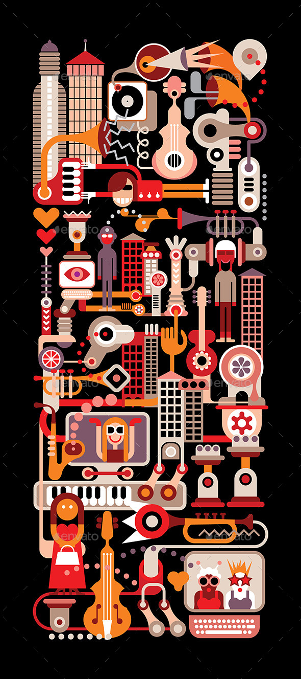 Music City  - Conceptual Vectors
