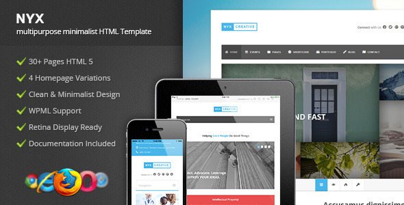 NYX - Multipurpose HTML Template - Corporate Site Templates