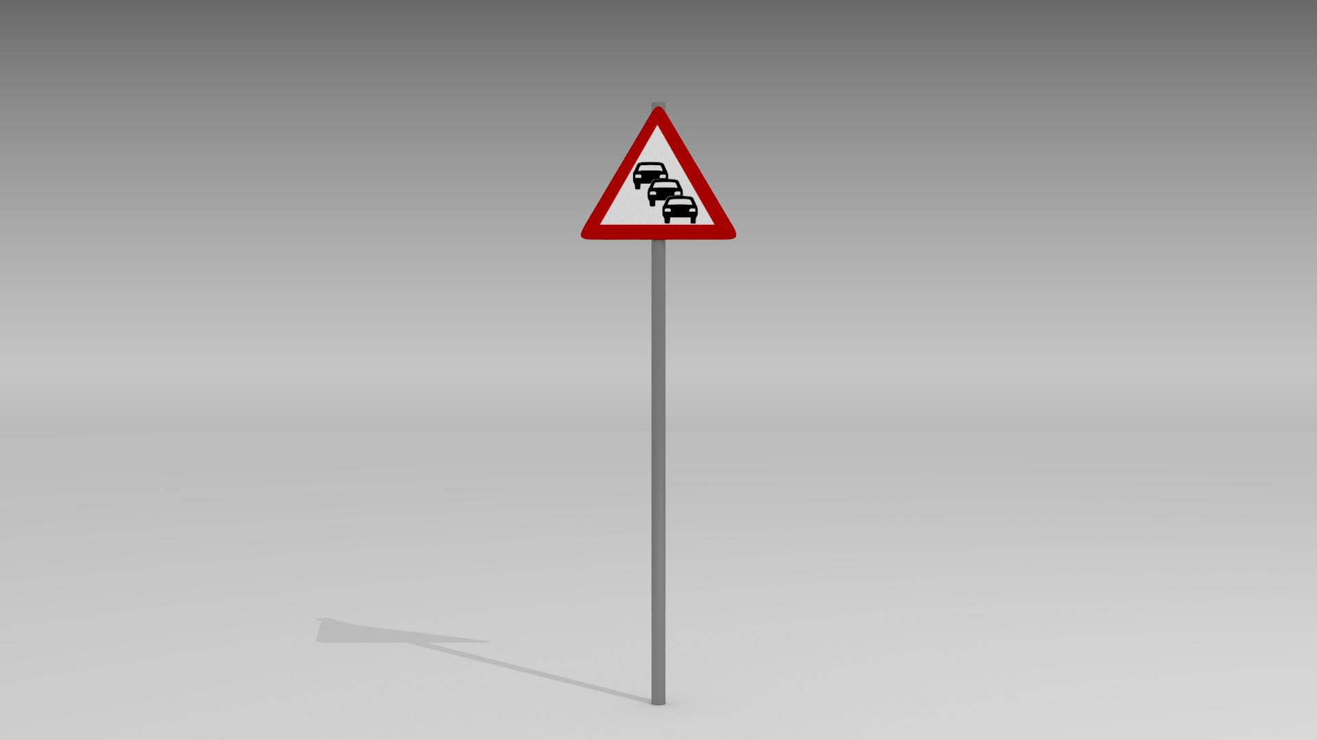Heavy traffic sign