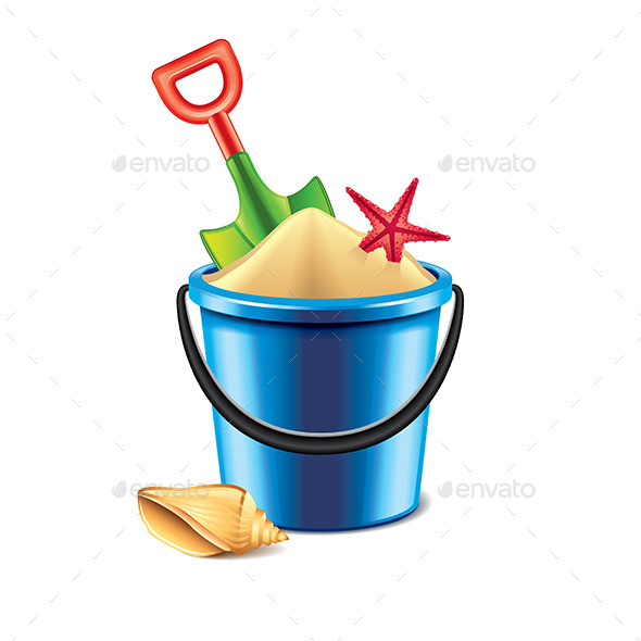 Toy Bucket and Spade - Man-made Objects Objects