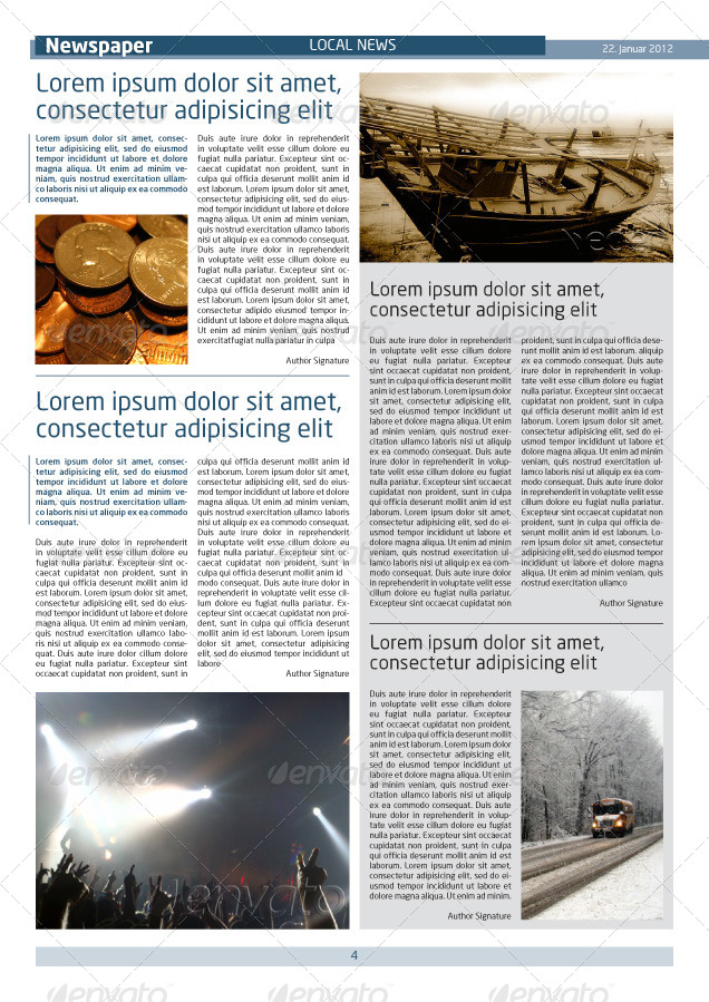 newspaper template a4 and a3 format 10 pages by grga atree