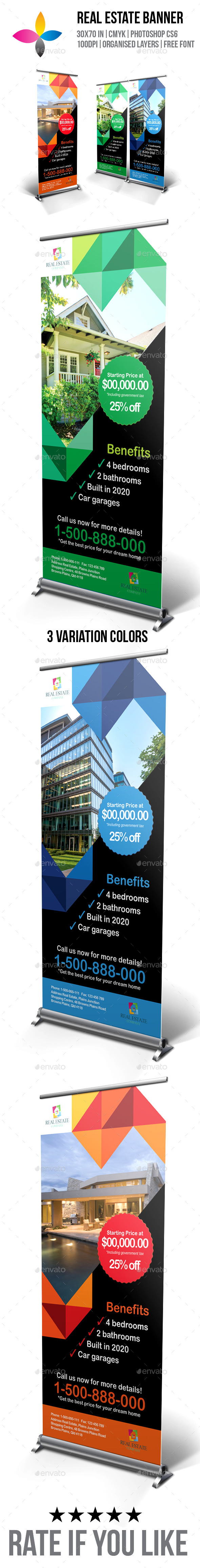 Real Estate Roll-Up Banner - Signage Print Templates