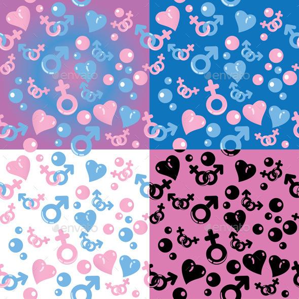 Set of Love Patterns - Patterns Decorative
