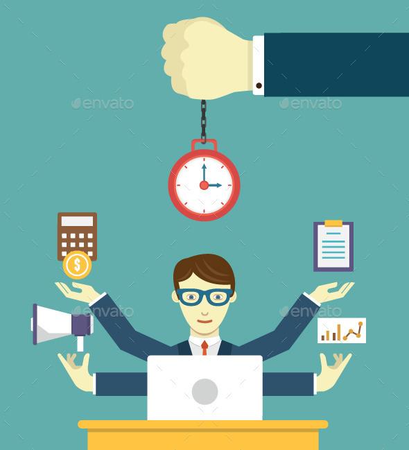 Time Management - Pledge of Success - Business Conceptual