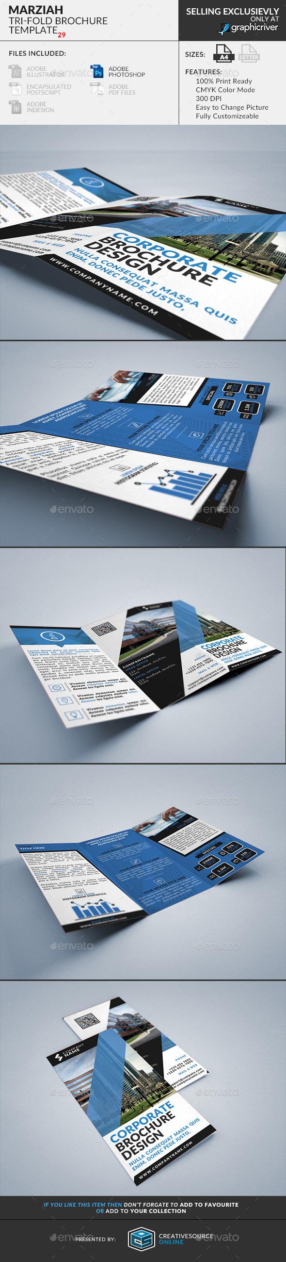 Marziah: Multipurpose Trifold Brochure - Corporate Brochures