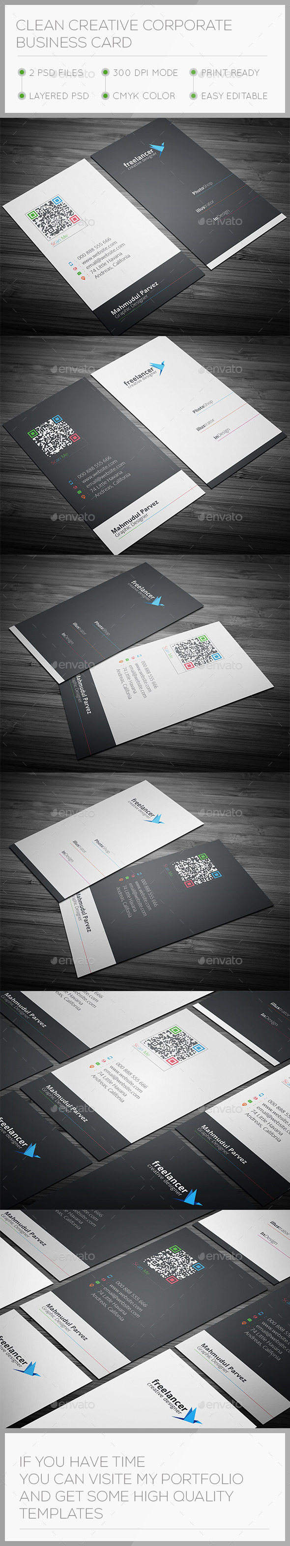 Clean & Creative Business Card - Creative Business Cards