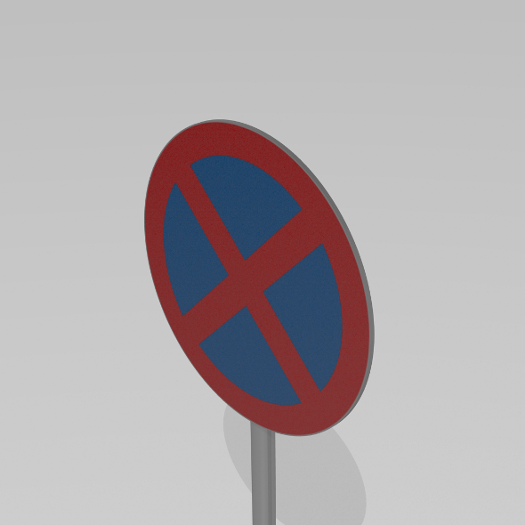 No stopping sign - 3DOcean Item for Sale