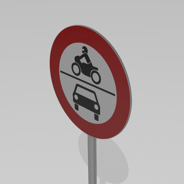 Vehicles prohibited sign - 3DOcean Item for Sale