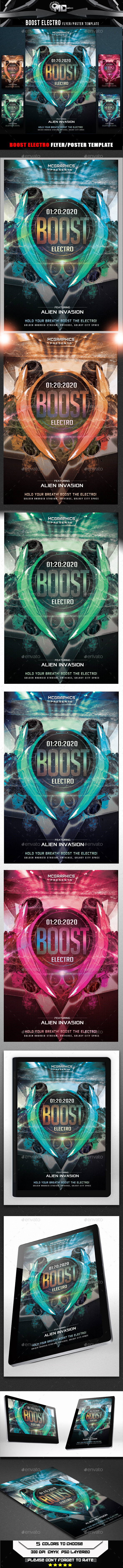Boost Electro Flyer Template - Flyers Print Templates