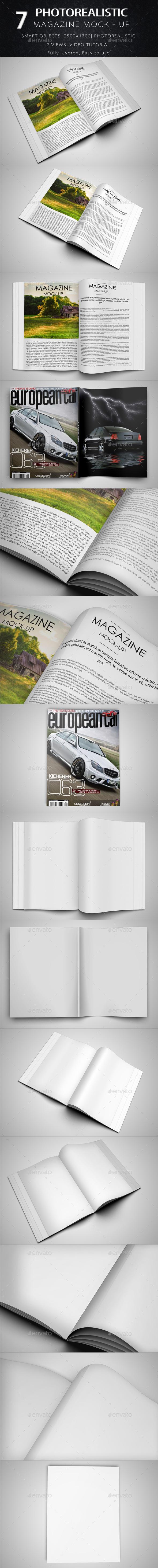 Magazine Mock Up - Product Mock-Ups Graphics