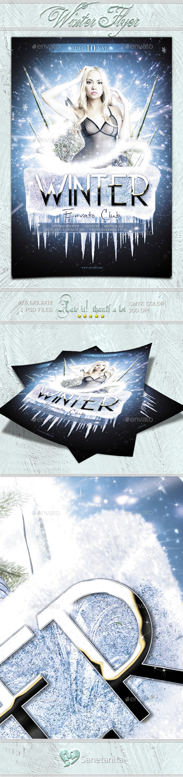 Winter Flyer - Clubs & Parties Events
