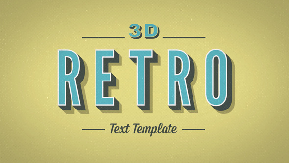 3D Retro Kinetic Typography by GerardGerard | VideoHive
