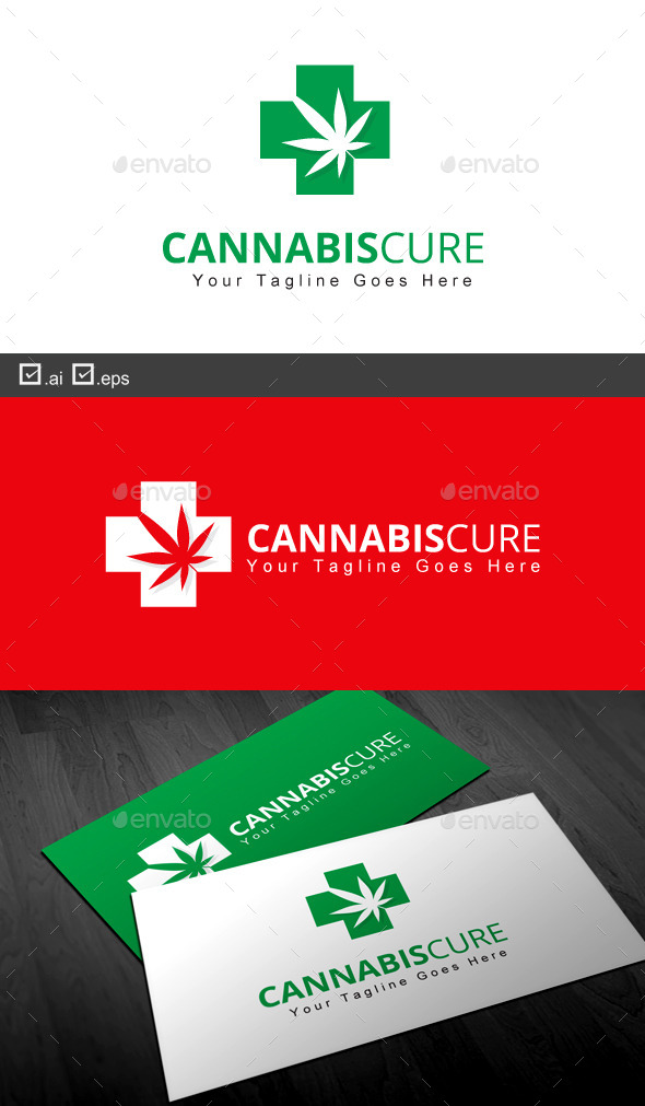 Cannabis Cure - Nature Logo Templates