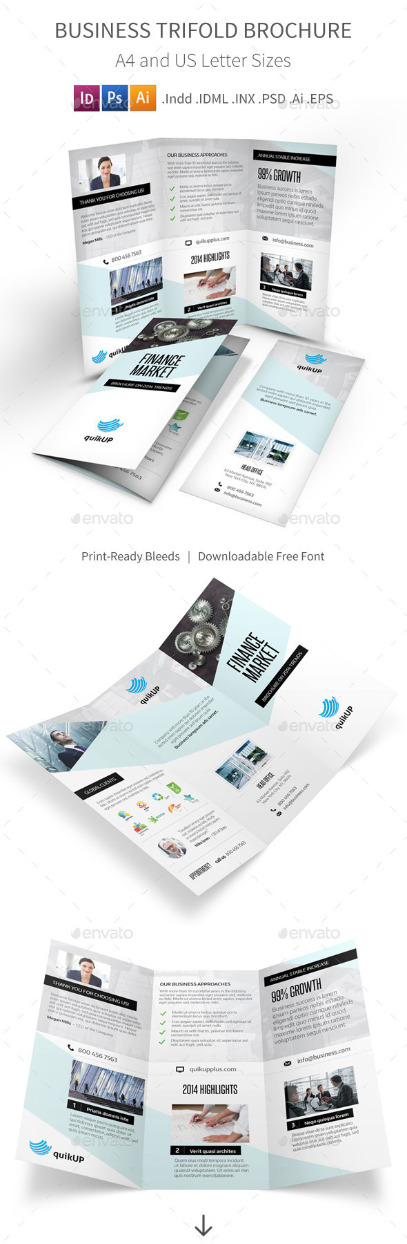 Business Trifold Brochure - Informational Brochures