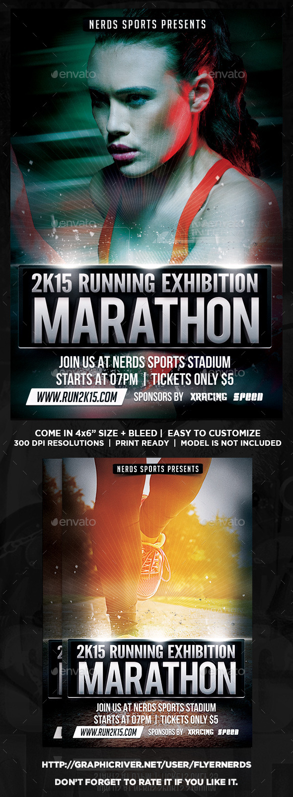 2K15 Marathon Exhibition Sport Flyer - Sports Events