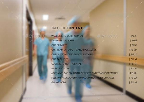Hospitals landscape general brochure template by for Hospital menu template