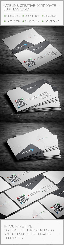 Katblimb Corporate Business Card - Corporate Business Cards