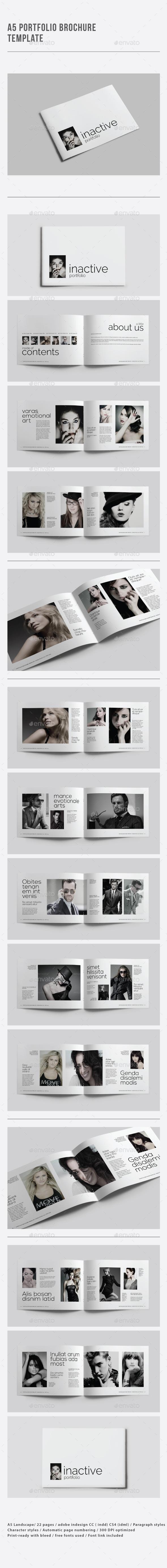 A5 Portfolio Brochure Template - Portfolio Brochures