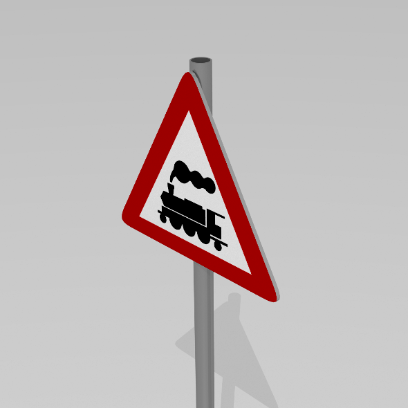 Rail crossing sign - 3DOcean Item for Sale