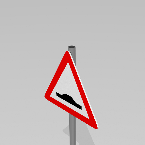 Speed bump sign - 3DOcean Item for Sale